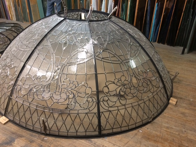 "This 9ft diameter dome has a high 36"" rise. Soon to be installed in a gorgeous new home in West Vancouver!"