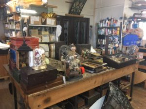 When Bill isn't busy working with clients, you can find him at this table, fashioning or fixing some new wondrous trinket or object of curiosity!